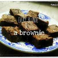 Brownie van rode bonen