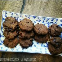 Double chocolate-cookies