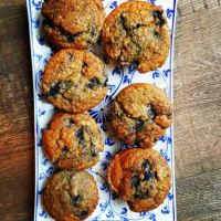Herfstige appel-bessen-muffins!